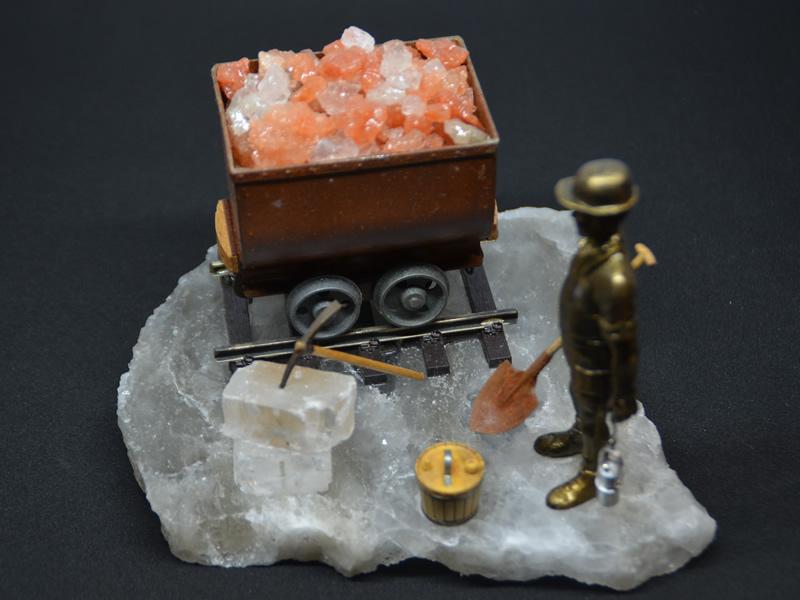 Vagoneta y minero